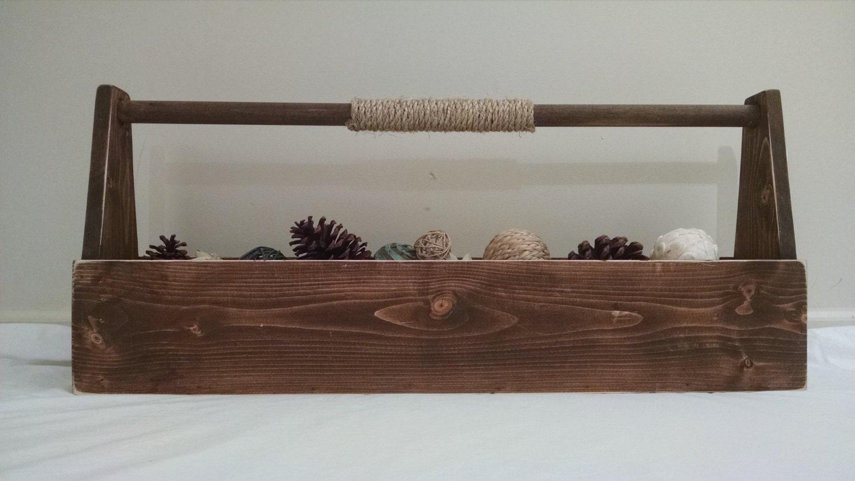 Rustic Wood Tool Box Old Tool Box Wedding Centerpiece