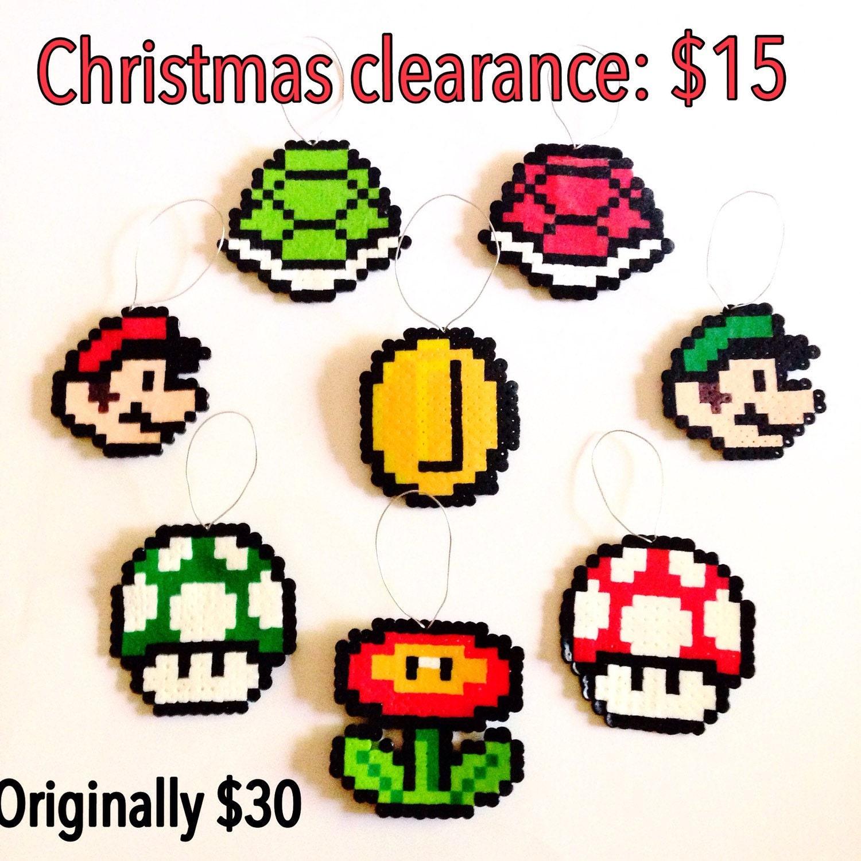 Super Mario Christmas Ornament Set by TheGamerZone on Etsy