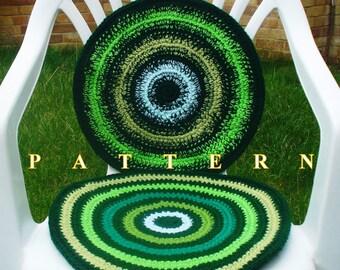 Chair seat cushion crochet pattern crochet cushion crochet pillow pattern crochet chair seat crochet cushion pattern Olga Andrew Designs 052