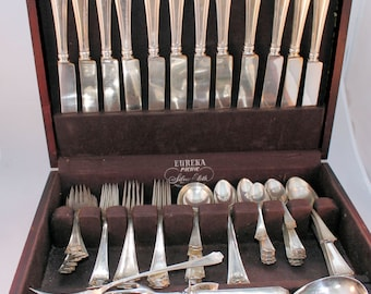 Antique Durgin Fairfax Sterling Silver Flatware Service for 12 Plus Serving Pieces 122 Pieces Total Mother's Day