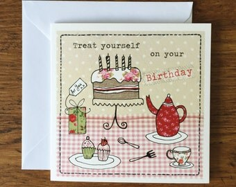 Treat Yourself - Birthday Card