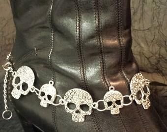 Sugar skull boot chain