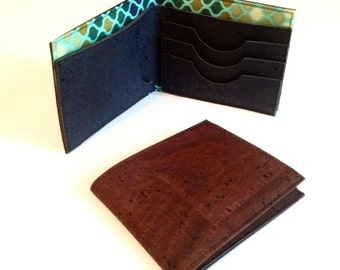Cork Wallet - Gorgeous Designer fabrics and Portuguese Cork - Made to order