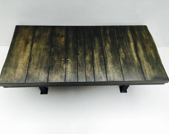 Industrial Coffee Table. Reclaimed Wood.