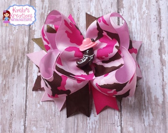 Camo Hair Bows, Camouflage Hair Bows,Camouflage Bows,Pink Camouflage Hair Bows,Pink Camo Bows,Camouflage Birthday,Pink Camo Party