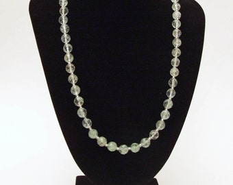 Rutilated Quartz and Silver Necklace