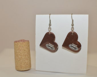 Small Heart Earrings with Splenda logo