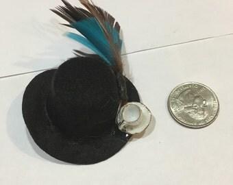 Steampunk mini hat barrettes