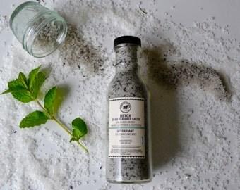 Detox Dead Sea Bath Salts with Hiwa Kai Black Lava Salts, Bentonite Clay, Peppermint & Eucalyptus Oils-Dead Sea salt, Detox salts, bath salt