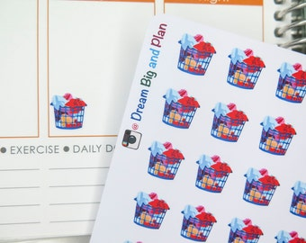 Laundry Basket Planner Stickers! DBP57