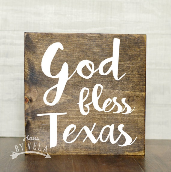 God bless texas calligraphy wooden sign home decor