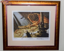 The Thief ~ (Bilbo and Smaug) FRAMED limited edition giclee print (the actual piece displayed at my 'Ionawr' exhibition this year)