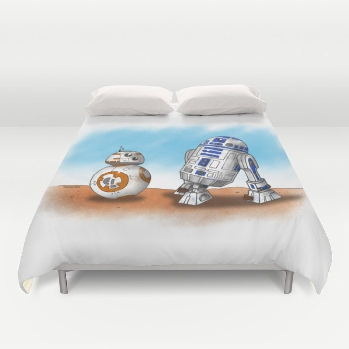 bb8 r2d2 housse de couette housse de couette star wars. Black Bedroom Furniture Sets. Home Design Ideas