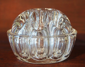 Pique flowers old round-small model Glass - Art deco