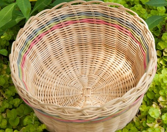 Natural and Pastels Cherokee Double Wall Basket