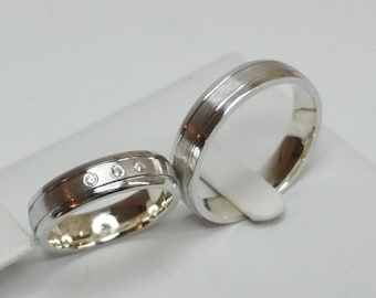 925 wedding rings partner rings wedding rings SR134