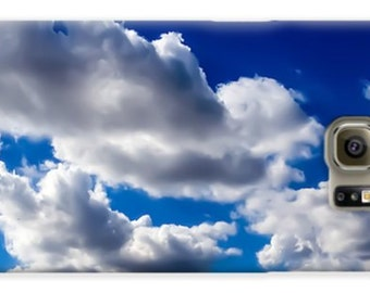 Blue and White Cloud Phone Case,iphone,galaxy,4 4s 5 5s 5c 6 6plus s4 s5 s6,Puffy White Clouds,Blue Sky,Nature Phone Case,Heavenly Cloud Art