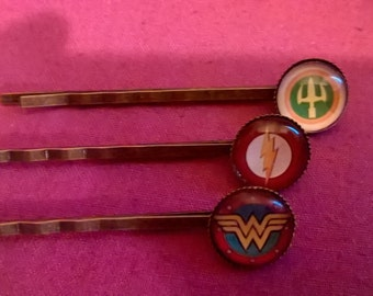 Justice League hair grips