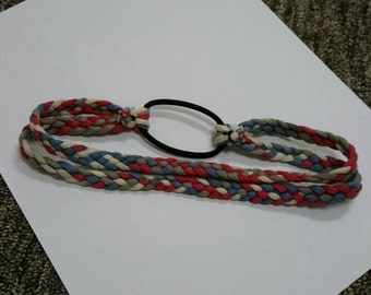 Braided headband (4th of July special)