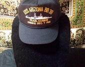 Vintage USS Arizona BB 39 Pearl Harbour Hawaii December 7th 1941 Commemoration Hat
