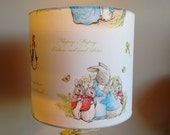Beatrix potter lampshade or ceiling shade peter rabbit  nursery lampshade