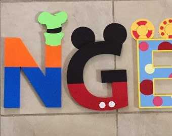 Mickey Mouse personalized name letters