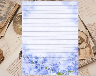 """Fine Lined Stationery 8.5"""" X 11""""  25 Sheets and 10 Color Co-ordinated Envelopes"""