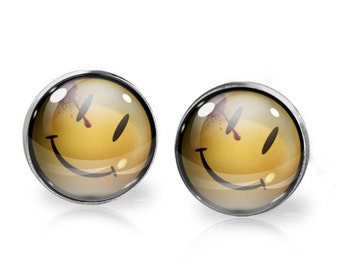 Watchmen Stud Earrings. Buy THREE get ONE free.