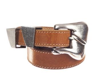 Kieselstein-Cord Winchester Tan Leather Belt
