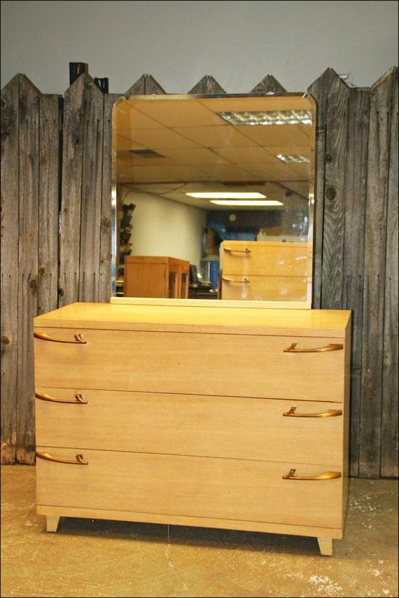 Mid Century Modern Dresser W Mirror Wood By