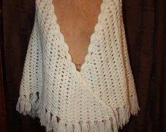 White Triangular Shawl