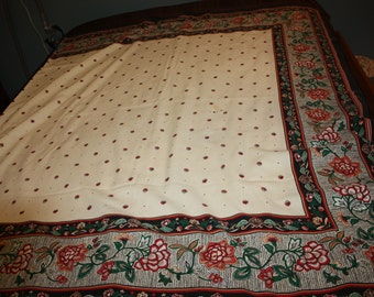 Long Bordered Tablecloth