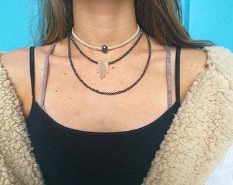 Quartz Double Layer Necklace
