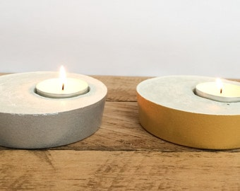 Concrete candle holder (set of 2)