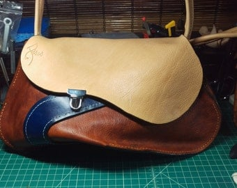Hand-Crafted Leather Purse w/ shoulder strap