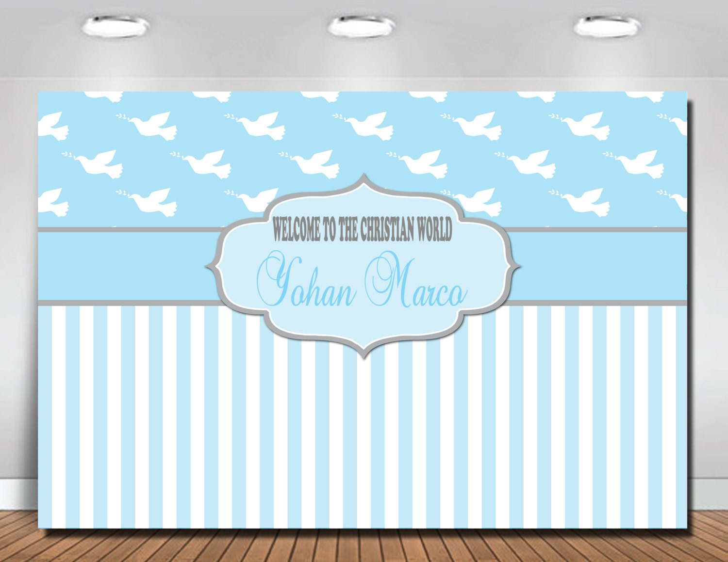 Christening Backdrop Baptism Backdrop Baptismal Backdrop