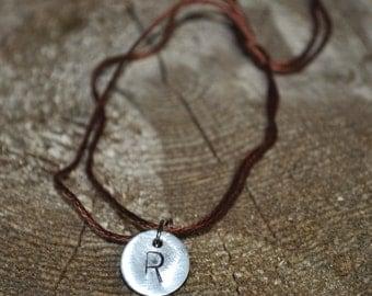 Personalized Jewelry, Personalized Bracelet, Monogram R Charm, Custom Jewelry, Initial R Jewelry, R ID Bracelet, Stamped Bracelet, Gifts