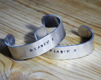 Player 1 Player 2 Gaming Couples Bracelets