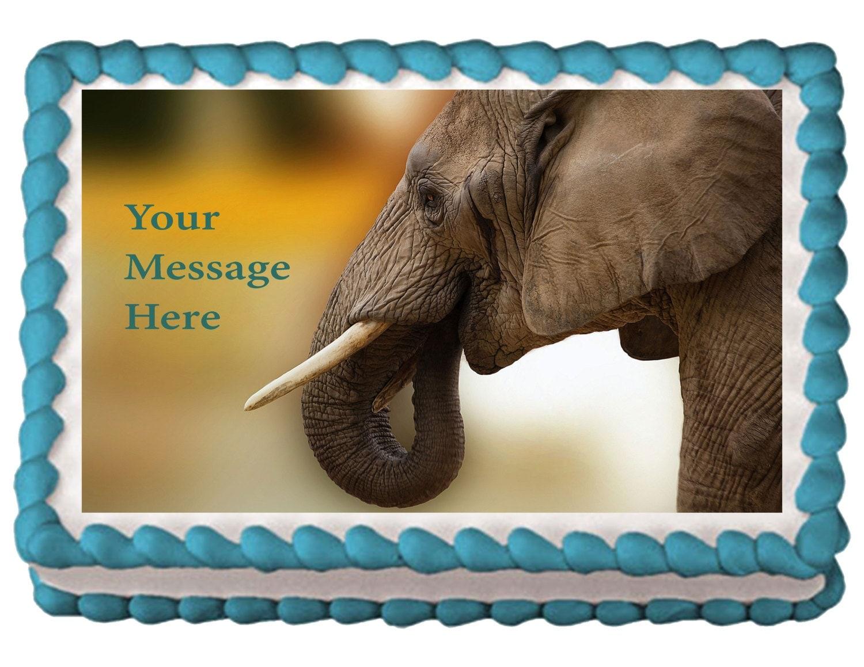 Edible Cake Images Elephant : Elephant Edible Cake Topper Elephant Cake Elephant Cake