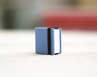 Hand-bound miniature sketchbook retro-blue