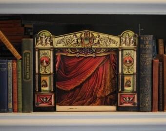 Vintage Victorian Theatre, Art, Child's Toy, Unique Gift, Gilbert and Sullivan, Topsy-Turvy Theatre
