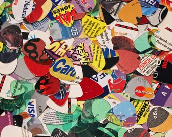 Guitar Picks from Recycled Materials - Set of 12