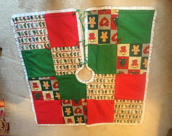 Hand stitched Christmas Tree Skirt
