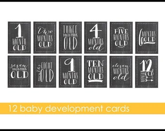 Monthly developmental cards for baby