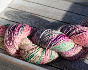 Hand dyed sock yarn, Solar dyed sock yarn, Indie kettle dyed yarn, sock yarn superwash merino wool and a bit of nylon for your socks