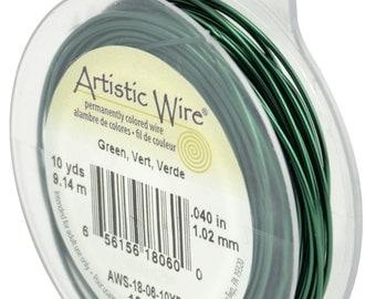18 Gauge GREEN Tarnish Resistant Artistic Wire (10 Yard Spool)