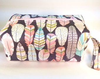 Light as a Feather- Cosmetic Bag, Makeup Bag, Travel Bag, Box Pouch