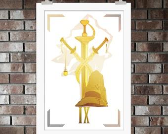 Final Fantasy IX, Print, Artwork, Poster, Gift, Sony, Zidane, Garnet, Dagger, Vivi, PlayStation, Steiner