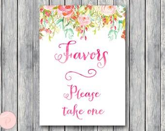 Favors Sign, Wedding Favor sign, Shower Favors sign, Engagement party favor sign, Printable sign, Wedding decoration sign TH45