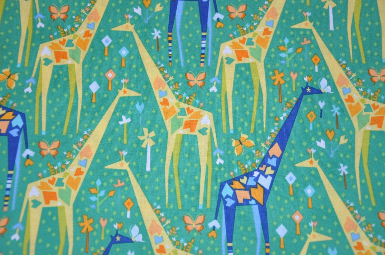 One Yard of Origami Oasis Giraffe 100% Cotton Quilt Fabric by - photo#21